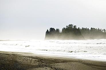 Windy seascape