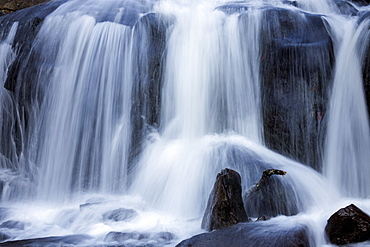 Full frame of waterfall, Smoky National Park, Tennessee