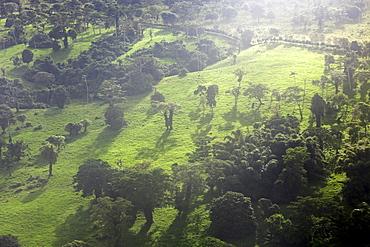Aerial view of Efate Island, Fiji