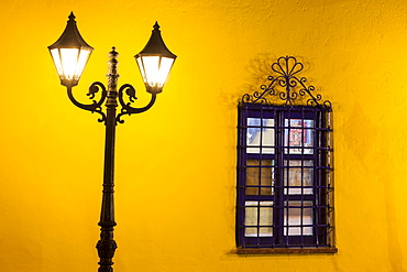 Wall of house at Plaza de amas mayor, Peru, Puno