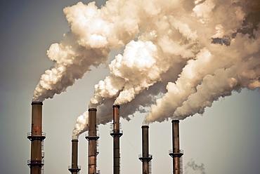 Industrial smokestacks, Florida