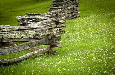 Weaverville, Old wooden fence near Zebulon Baird Vance birthplace