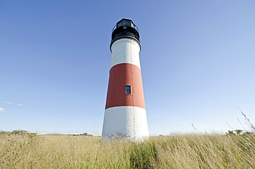 "Low angle view of ""ankaty Head Light, Nantucket, Massachusetts"