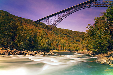 Bridge over river, Babcock State Park, West Virginia