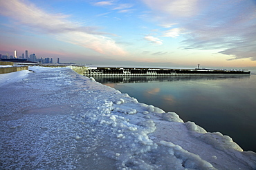 Winter in Chicago - Lake Michigan