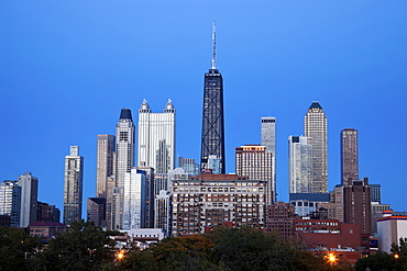 Downtown Chicago - blue evening