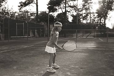 Girl playing tennis, Texarkana, AR