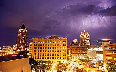 Thunderstorm in Milwaukee, Wisconsin