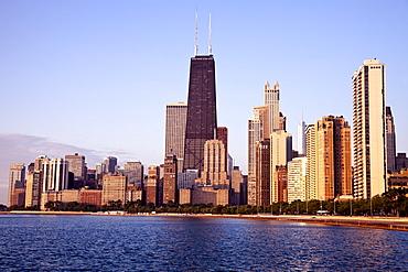 Gold Coast in Chicago at sunrise, USA, Illinois, Chicago, Michigan City