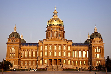 State Capitol Building in Des Moines, USA, Iowa, Des Moines
