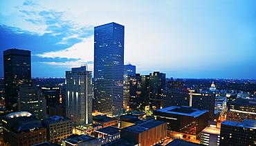 Colorado before sunrise., USA, Colorado, Denver