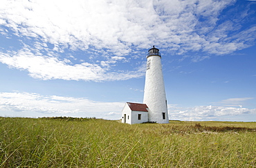 View of Great Point lighthouse, Nantucket Island, Massachusetts