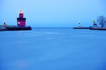USA, Michigan, Holland, Lighthouse at sunrise, Holland, Michigan, USA