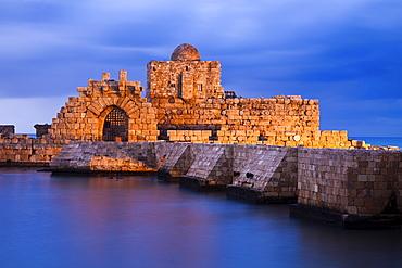 Sidon Sea Castle at dusk