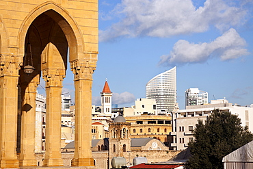 Mohammad al Amin Mosque and downtown