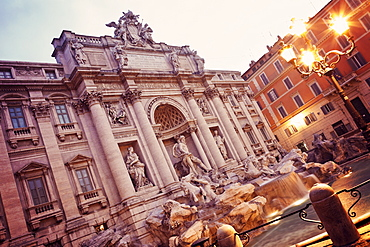 Trevi Fountain in early morning