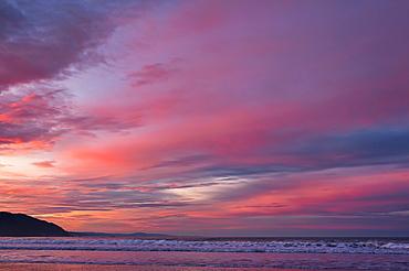 Coastal view at sunrise