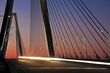 USA, South Carolina, Charleston, Arthur Ravenel Jr. Bridge