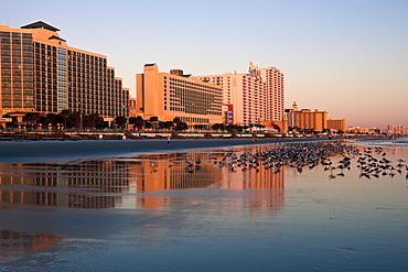 USA, Florida, Daytona Beach, Waterfront hotels