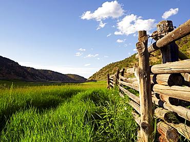 Ranch among fields, USA, Colorado