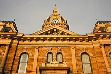USA, Ohio, Cambridge, Low angle view of town hall