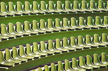 Mexico, Guerrero, Ixtapa, Rows of green seats