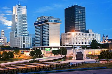 USA, Ohio, Akron, Skyline