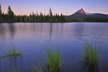 USA, Oregon, Big Lake and Mt. Washington