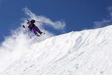 USA, Colorado, Telluride, Downhill skiing