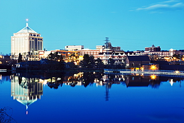 USA, Wisconsin, Wausau, Evening skyline