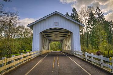 USA, Oregon, Linn County, Larwood Bridge