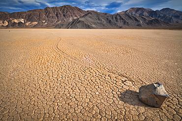 USA, Death Valley, Rock on Playa