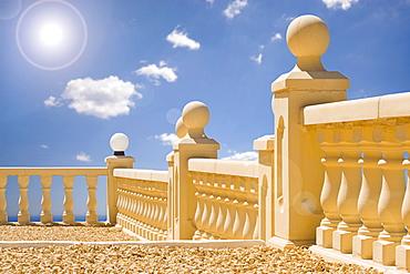 Spain, Costa Blanca, White balustrade