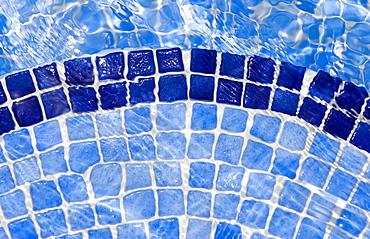 Spain, Costa Blanca, Swimming pool floor