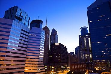 USA, Minnesota, Minneapolis downtown at sunrise
