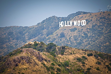 USA, California, Los Angeles, Hollywood sign on hill