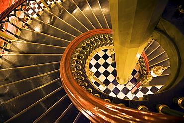 USA, Louisiana, Baton Rouge, State Capitol interior staircase
