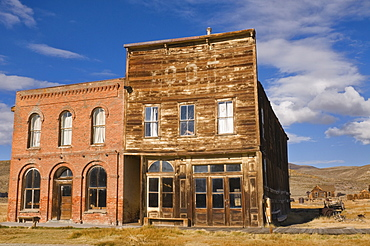 USA, California, Bodie, Old buildings in Western town