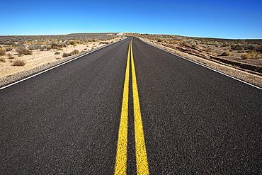 Road through desert