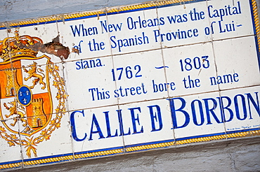 Spanish tile street sign