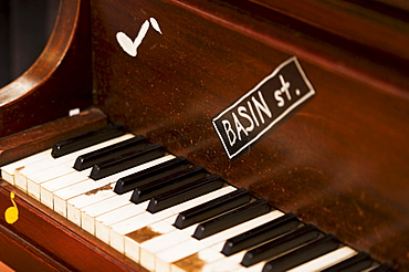 Keys on a piano