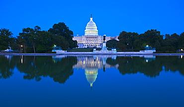 Capitol building at dusk