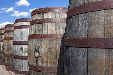 Old wooden barrels, Hill City, South Dakota