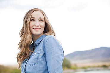 Portrait of young woman, Salt Lake City, Utah