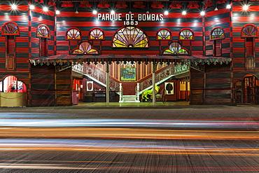Historic fire station, Parque de Bombas, in Ponce, Puerto Rico