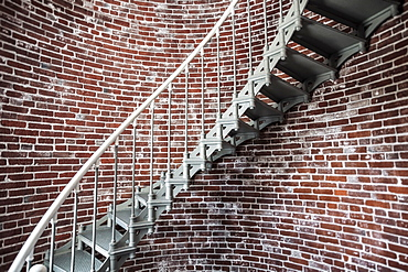 Circular staircase in Umpqua Lighthouse, Winchester Bay, OR