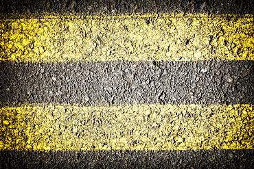 Close-up of dividing line