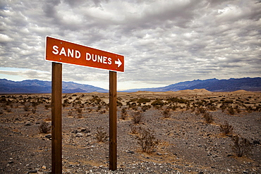 USA, California, Death Valley, direction sign, USA, California, Death Valley