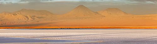 Chile, San Pedro de Atacama, Volcanic landscape during sunset, Chile, San Pedro de Atacama