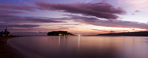 Vanuatu sunset panorama, Fiji